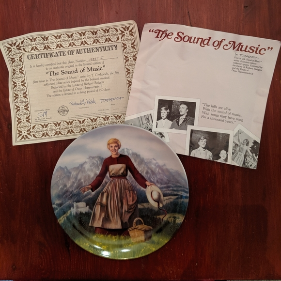 THE SOUND OF MUSIC COLLECTORS PLATE